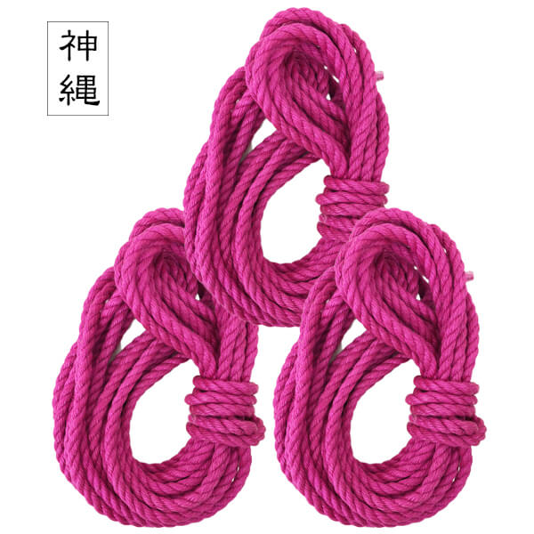 -PINK- Jute Rope Set of 3 【Beeswax processed】