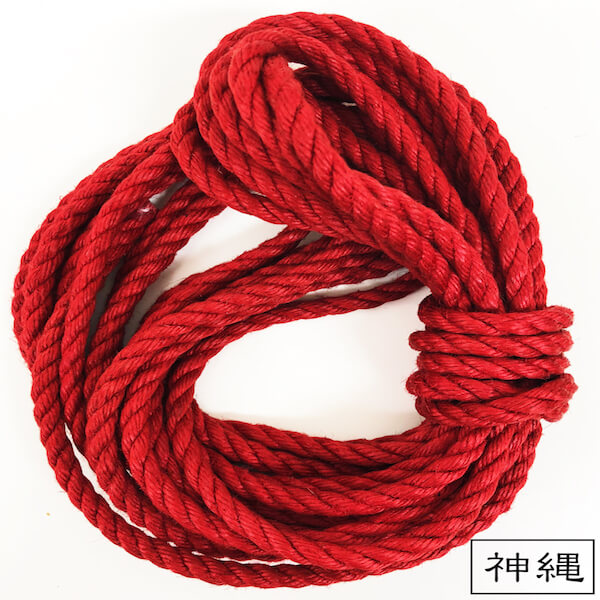 -RED- Jute Rope【Beeswax processed】